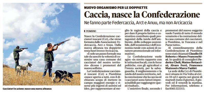 articolo di stampa  CCT a Piombino