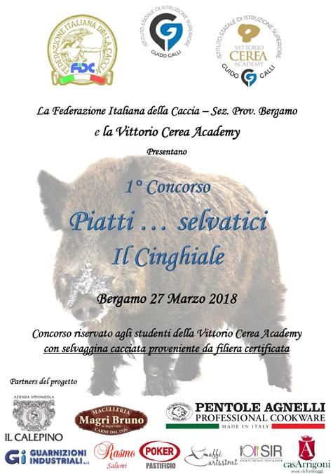 """""""PIATTI… SELVATICI: IL CINGHIALE"""". FIDC BERGAMO LANCIA UN CONCORSO PER STUDENTI"""