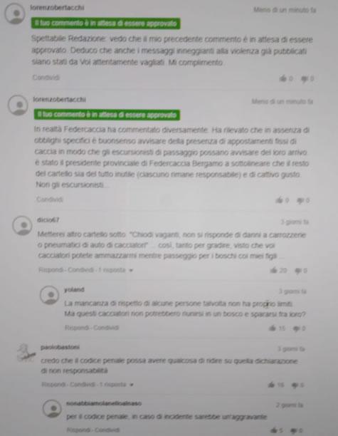pagina commenti