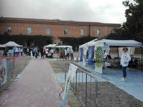 alcuni stand della Fortezza Medicea