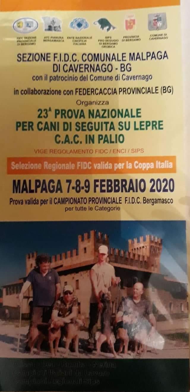 Locandina 23ESIMA PROVA NAZIONALE PER CANI DI SEGUITA SU LEPRE