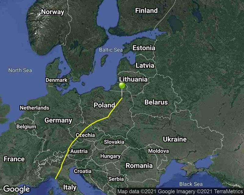mappa migrazione beccaccia