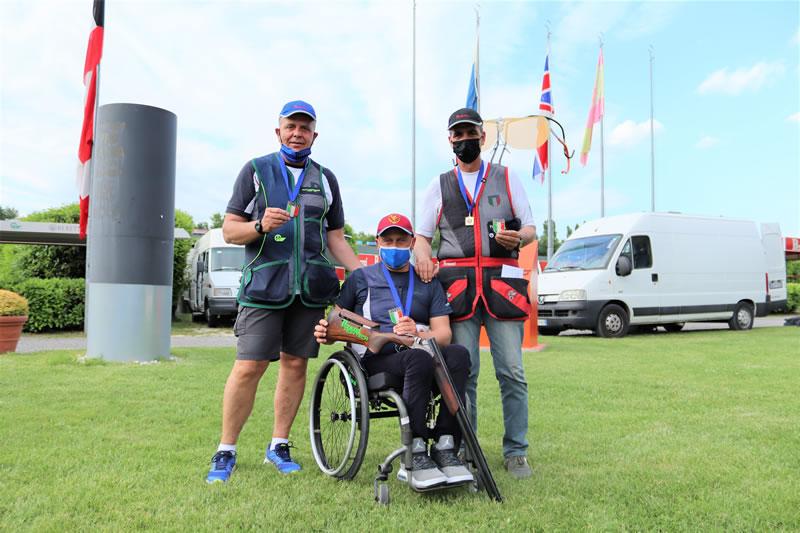 I tre campioni nazionali. da sinistra Cucinotta Lai e Fazzari