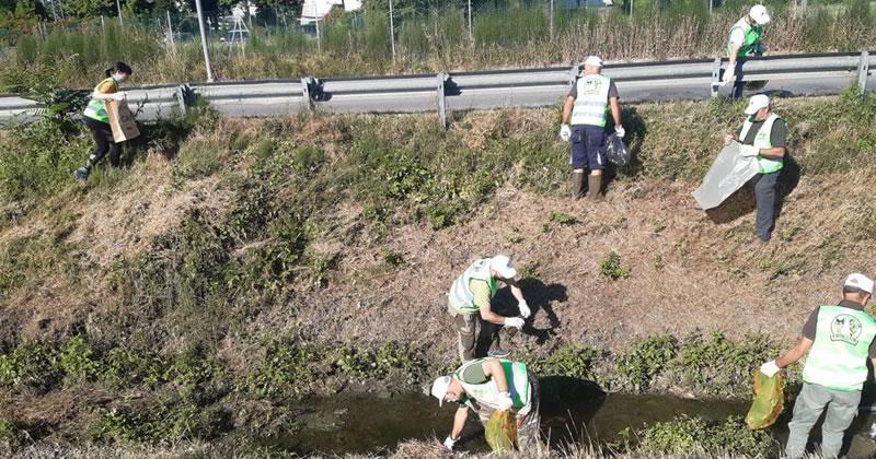 Volontari Ekoclub al lavoro