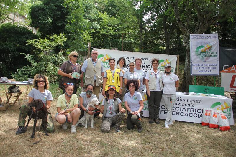Foto di gruppo Trofeo Lady e il Trofeo Cacciatrice Italiana