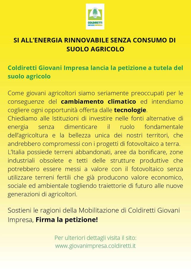 Petizione Coldiretti