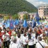 foto manifestazione di piazza